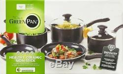 The Original Green Pan 5 Piece Cookware Set Velvet Range Saucepans & Frypans
