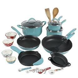 The Pioneer Woman Frontier 24 Piece Cookware Combo Set Pots Pans Stainless NEW
