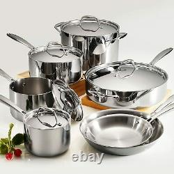 Tramontina Gourmet 12 Piece Tri-Ply Clad Stainless Steel Cookware Set NEW