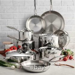 Tramontina Tri-Ply Clad 14-Pc. Cookware Set (14-Piece) NEW