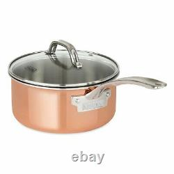 Viking 13-Piece Tri-Ply Copper Cookware Set Professional Chef Home Cooking