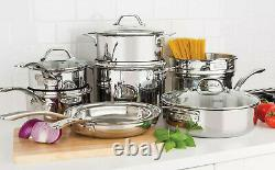 Viking 13 piece Tri-Ply Stainless Steel Cookware Set Mirror Finish