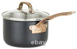 Viking 3-Ply Black & Copper 11-Piece Cookware Set NEW
