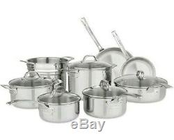 Viking Professional 13-Piece Stainless Steel 13pc Tri-Ply Cookware Set NEW