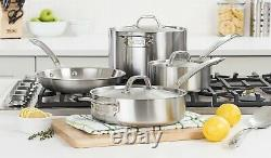 Viking Professional 5-Ply 7 Piece Satin Finish Stainless Steel Cookware Set NEW