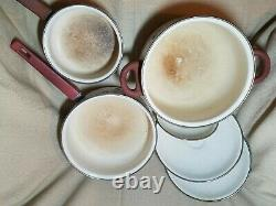 Villeroy & Boch 6 Piece Porcelain Cookware Set Petite Fleur Made W. Germany