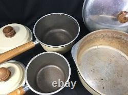 Vintage Club Aluminum Porcelain Tan Almond 14 Piece Set