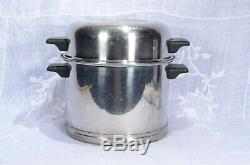 Vintage LIFETIME 17 Piece Set 18-8 STAINLESS STEEL COOKWARE
