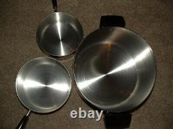 Vintage NOS Revere Ware Copper Clad 10 Piece Set NEW RARE