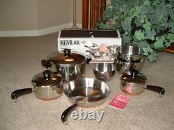 Vintage NOS USA Revere Ware 10 Piece Set No. 3500471 NEW RARE
