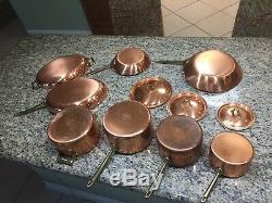 Vintage Paul Revere 1801 Copper Cookware FULL SET unused Estate find 11 Piece