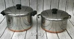 Vintage Revere Ware 18 Piece Set Pots & Pans with Lids Made in USA