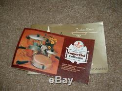 Vintage USA NOS Revere Ware Copper Clad HUGE 11 Piece Set No 3308 NEW