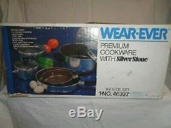 Vintage Wear-Ever 9- Piece Set Premium Cookware With SIlverStone 1-No. 46997 NIB