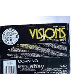 Visions Rangetop Cookware by Corning 5 Piece Starter Set V-168 NIB
