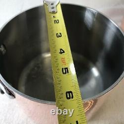 Vtg All Clad Copper Cookware Set Stainless Steel 5 Piece 8 Qt 6 Qt 10 Skillet
