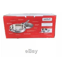 WOLF Gourmet 10 Piece Stainless Steel Cookware Set WGCW101SI NIB FAST FREE SHP