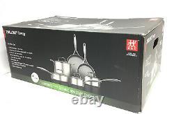 ZWILLING J. A. HENCKELS -Energy 10 Piece Cookware Set- Ceramic Nonstick Coating