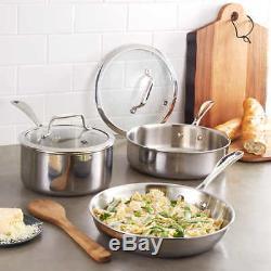 ZWILLING J. A. Henckels VistaClad 5-piece Stainless Steel Cookware Set