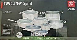 Zwilling J. A Henckels 64080-002 Spirit Ceramic Nonstick Cookware 12-Piece Set
