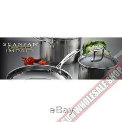 100% Authentique! Ensemble De Batterie De Cuisine Scanpan Impact 18/10 S / S 7 Pièces! Pvc 799,00 $