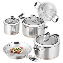 100% Authentique! Scanpan Coppernox 5 Piece Cookware Set Base De Cuivre! Prix public 929,00 $