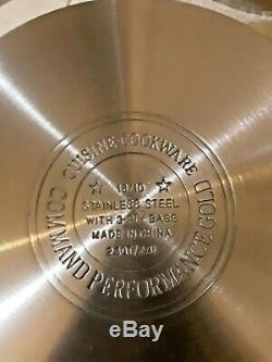 10 Piece Command Performance Gold 3-ply 18/10 Set Acier Inoxydable Batterie De Cuisine