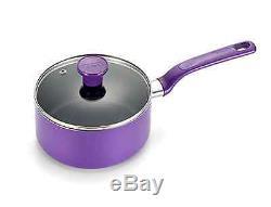 14 Pièces Violet T-fal Batterie De Cuisine Faitout Casserole Frypan Casseroles Et Poêles Nouveau
