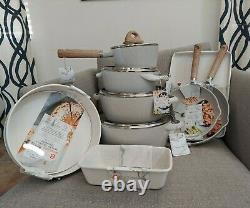 15 Piece Masterclass Speckled Beige Premium Cookware/bakeware Set