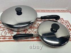 15 Piece Set Revere Ware Copper 6 Qt Stock 1,2,3 Qt Sauce Pots 7 & 10 Poêles À Frire