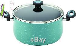 16981 Riverbend Batterie De Cuisine Antiadhésives Casseroles Et Poêles Set, 12 Pièces, Golfe E Le