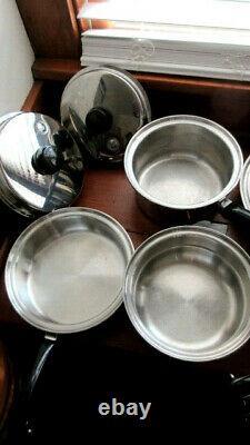 16+ Set Piece Of Saladmaster 18-8 Tri-clad Batterie De Cuisine En Acier Inoxydable De Nice