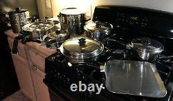 20 Piece Vintage Saladmaster 18-8 Cookware Set-electric Skillet Dallas États-unis