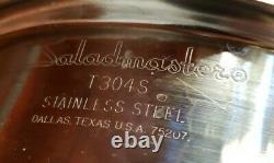 22 Piece Saladmaster Steel Set Pots Pans Lids Electric Skillet Grinder/chopper +