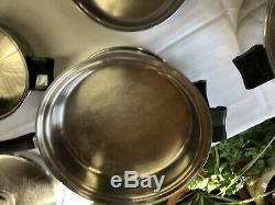 30 Pièce Saladmaster 18-8 Tri-clad Batterie De Cuisine En Acier Inoxydable Set + Électrique Skillet