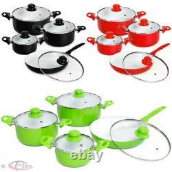 8 Piã ̈ces Céramique Pots De Cuisson Couvercles Casserole Casserole Casserole Ustensiles De Cuisine Set New