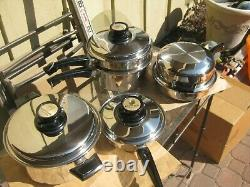 9 Pièce West Bend Cuisine Craft Cookware Set Waterless Stainless