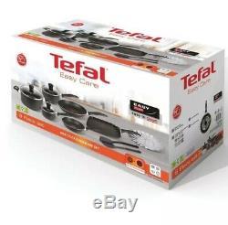 9 Pièces Batterie De Cuisine Tefal Easycare Casserole Pot De Fleurs Crêpière Frypan Vapeur