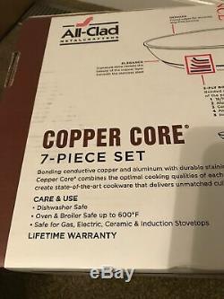 All-clad Copper-core Set Inoxydable En Acier Batterie De Cuisine 7 Pièces