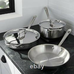 All-clad D5 Brossé 18/10 Stainless 5-ply Bonded Cookware Set (your Choice)