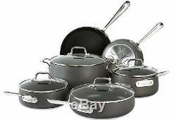 All-clad E785sc64 Ha1 Antiadhésives Lave-vaisselle Batterie De Cuisine, 10 Pièces, Noir