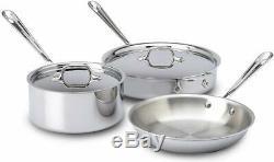 All-clad En Acier Inoxydable D3 Bonded Lave-vaisselle Set Safe Batterie De Cuisine. (votre Choix)