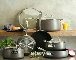 All-clad Ha1 10 Pièce Hard-anodized Aluminium Anti-stick Cookware Set
