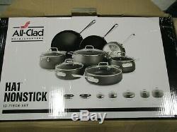 All-clad Ha1 E785sb64 En Acier Inoxydable Batterie De Cuisine Antiadhésive 13 Pièces, Noir