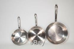 All-clad Lot De 8 Pièces Batterie De Cuisine Couvercle Inox Pot Poêle À Frire All Clad Sauté