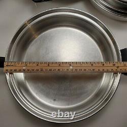 Amway Queen 3-ply En Acier Inoxydable 18/8 Ensemble D'articles De Cuisine 9 Pièces Couvercle De Saucepan