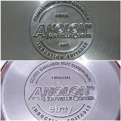 Anolon Nouvelle Cuivre Assortiment Antiadhésif Antiadhésif 8 Pièces Vguc