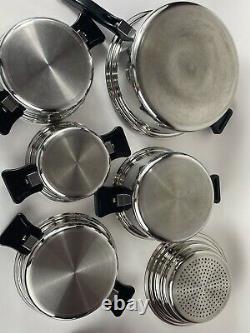 Articles De Cuisine De L'artisanat De Santé 11 Pièces En Acier Chirurgical Nicromium À 5 Couches Fabriqués Aux États-unis