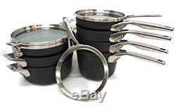 Batterie De Cuisine 11 Pièces Anti-adhésive Anodisée Dure Calphalon Premier