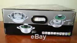 Batterie De Cuisine 12 Pièces Set Pan (diamond Edition De Damacus Stahl)
